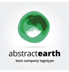 Abstract earth logotype concept isolated on white vector