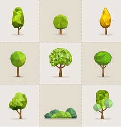 Abstract tree low poly tree vector image