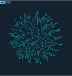 abstract wireframe sphere with noise vector image