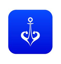 anchor icon digital blue vector image