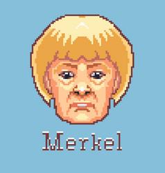 Angela merkel pixel art germany vector