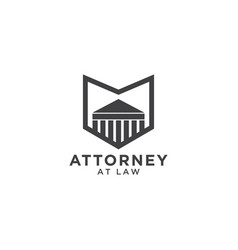 Attorney at law logo template vector