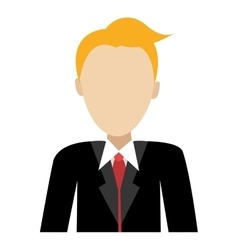 avatar man wearing black suit graphic vector image