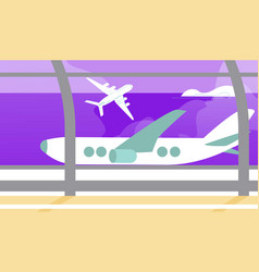 background airplane vacation summer destination vector image