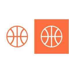 basketball ball icon isolated basket ball vector image