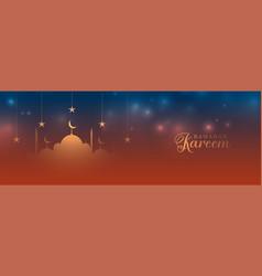 Beautiful ramadan kareem design banner vector