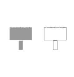 bigboard grey set icon vector image