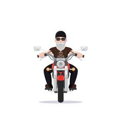 biker character design vector image