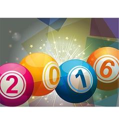 Bingo lottery balls 2016 vector image