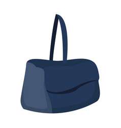Blue handbag travel tourism tool vector