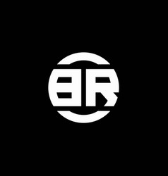 br logo monogram isolated on circle element vector image