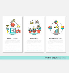 Business brochure template with finance vector
