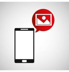 Cellphone image multimedia icon vector