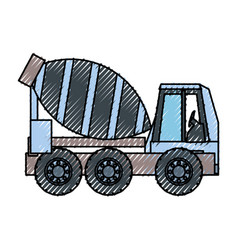 Cement truck ilustration vector