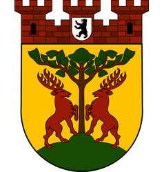 Coat of arms of schoeneberg in berlin germany vector