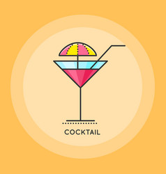 cocktail thin line icon vector image
