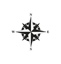 compass black icon vector image