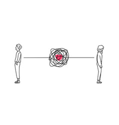 Complicated couple love relationship problem vector