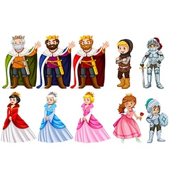 Different fairytales characters on white vector