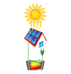 electricity conversion of solar energy vector image