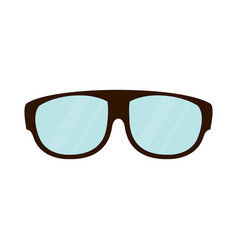 fashion lens glasses vector image