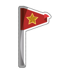 flag or pennant vector image
