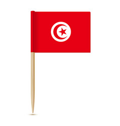 flag tunisia flag toothpick 10eps vector image