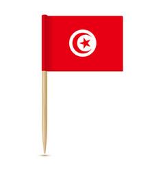 flag tunisia toothpick 10eps vector image