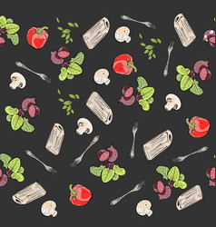 food pattern vegetables vector image