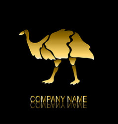 golden emu symbol vector image