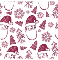 hand drawn seamless Christmas winter vector image