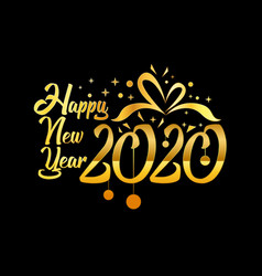 happy new year 2020 logo text design concept vector image