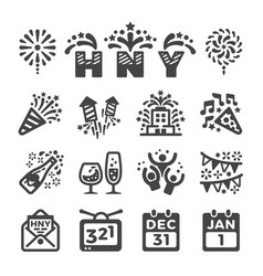 happy new year icon vector image