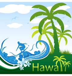 Hawaii poster vector