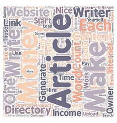 How to Make Money with Article Directories 1 text vector