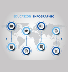 infographic design with education icons vector image