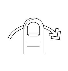 Left edge swipe line icon vector