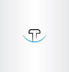 letter t logo symbol element design vector image