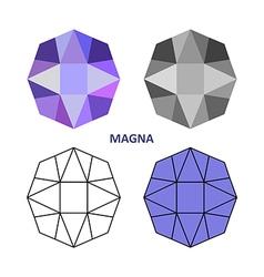 Magna gem cut vector