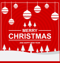 merry christmas card and happy new year vector image