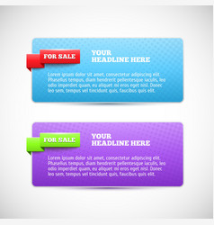 Modern horizontal web banner vector