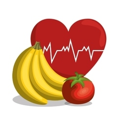 Nutrition healthy food icon vector