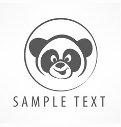 Panda logo vector