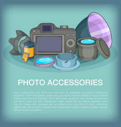 Photo accessories concept cartoon style vector