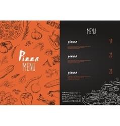 Pizza menu names dishes pizza vector