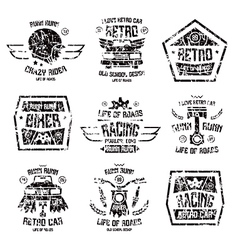 racing badges for t shirt vector image