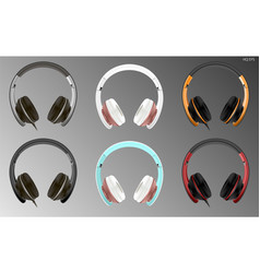 realistic high quality modern headset vector image