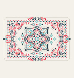 rectangular bandana print design for rug carpet vector image
