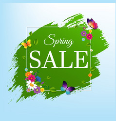 Sale banner with flower vector