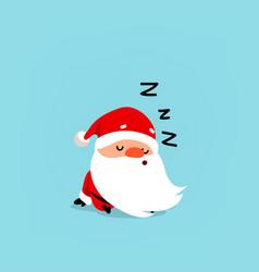 santa claus sleeps cute christmas character vector image
